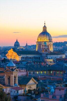 Poster Roma panorama da Villa Borghese