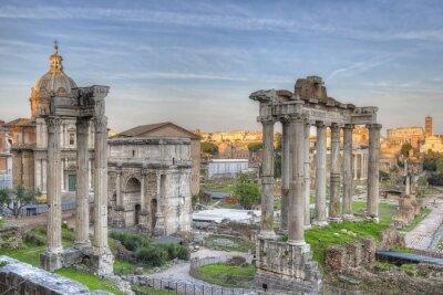 Poster Roman Forum Sunset HDR