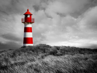 Poster Rot-Weißer Leuchtturm
