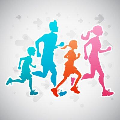 Poster Running Family