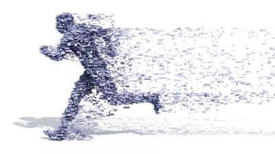 Poster Running Man from blocks