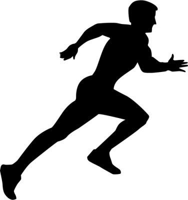 Poster Running Sprint Silhouette