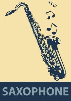 Poster Saxophone pop