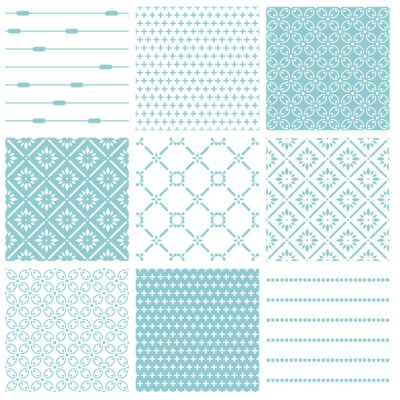 Poster Seamless backgrounds Collection - Vintage Tile