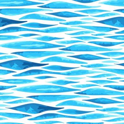 Poster  Seamless horizontal sea background
