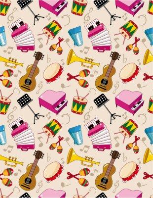 Poster seamless music pattern