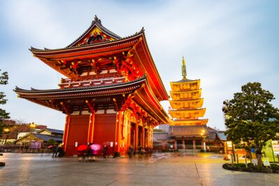 Poster Senso-ji Temple at Asakusa area in Tokyo, Japan