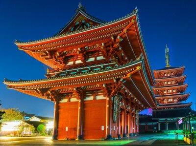 Poster Senso-ji, Temple in Asakusa, Tokyo, Japan.