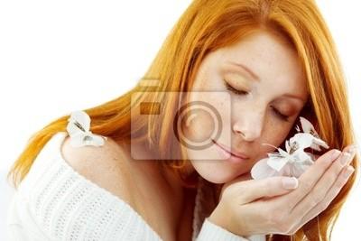 Sensual portrait of redheaded girl