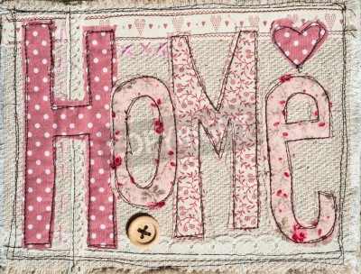 Poster sewed shabby chic home text background decoration