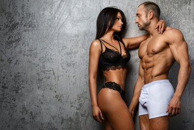 Poster Sexy couple in underwear