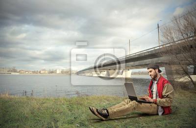 Sitting on the ground