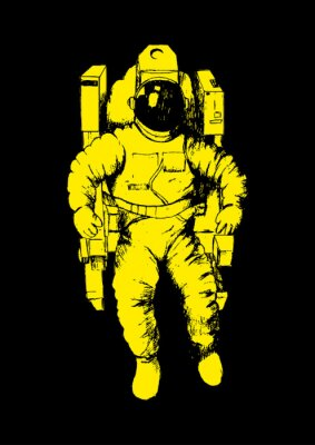 Poster Sketch illustration of an astronaut