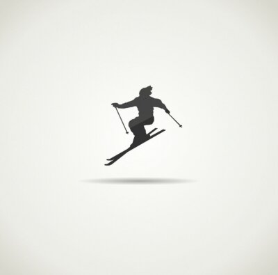 Poster Skifahrer