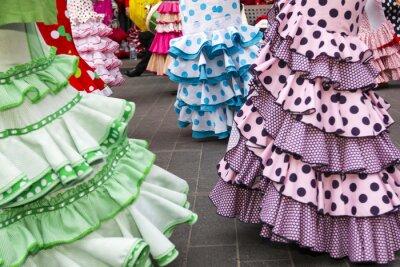 Poster skirts of Spanish Flamenco dancers