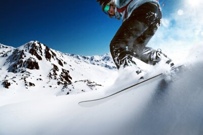 Poster Snowboarder going downhill