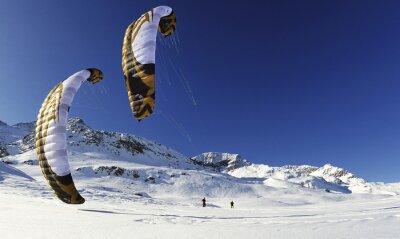 Poster snowkiten im winter