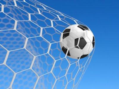 Poster Soccer ball in net