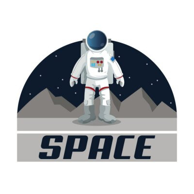 Poster Space icon design