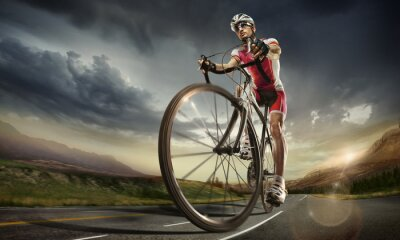Poster Sport. Road cyclist.