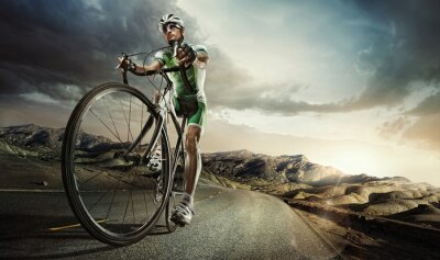 Poster Sport. Road cyclist