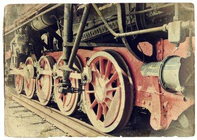 Poster Steam train wheels