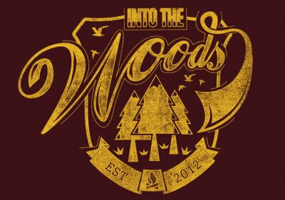 Poster Step into the woods
