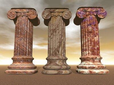 Poster Stone columns - 3D render