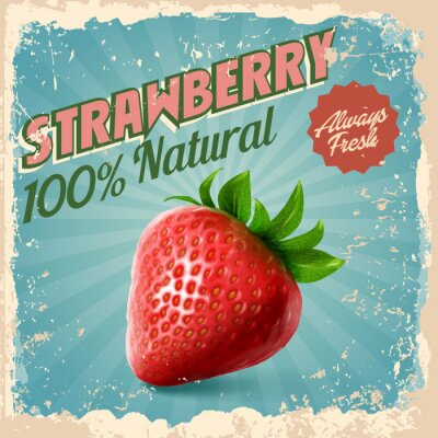 Poster strawberry vintage