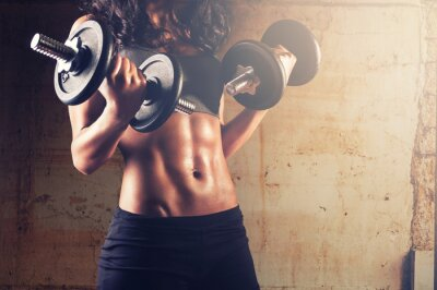Poster Strong body woman workout