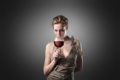 Stylish wine-taster