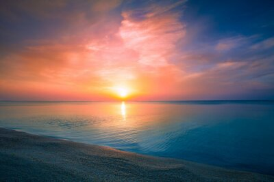 Poster Sunrise over sea