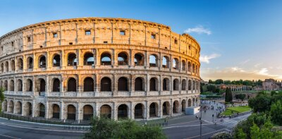 Poster sunset at Colosseum - Rome - Italy