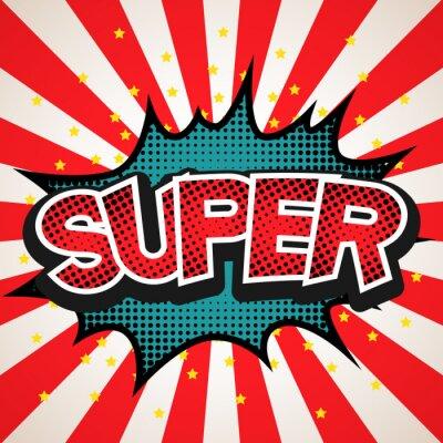 Poster Super speech bubble background