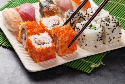 Poster Sushi and maki set