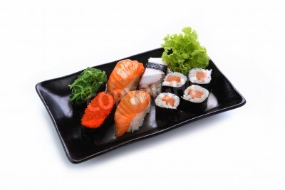 Poster sushi isolated on a white background