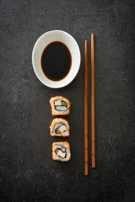 Poster Sushi. Japanese food