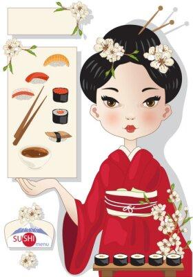Poster Sushi Menu