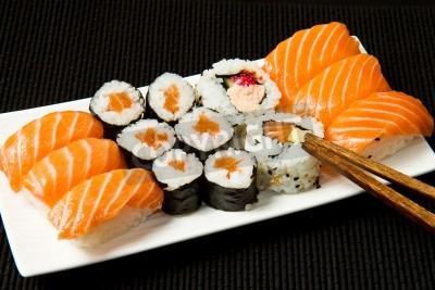 Poster Sushi Set over black