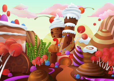 Poster Sweet vector background