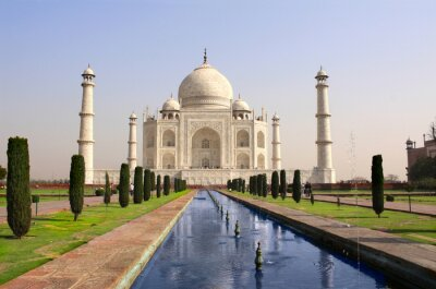 Poster Taj Mahal mausoleum, Agra, India