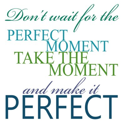 Poster Take The Moment And Make It Perfect Quote