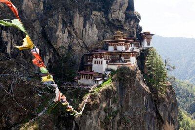 Poster Taktshang Goemba, Tiger's Nest monastery in Bhutan