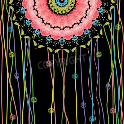 Poster texture mandala design