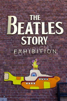 Poster The Beatles Story Exhibition in Liverpool