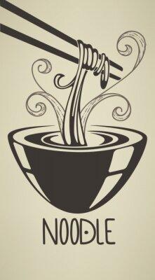 Poster the best noodle illustration