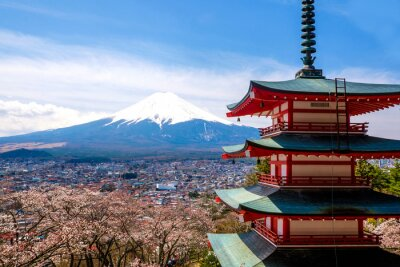 Poster The mount Fuji, Japan