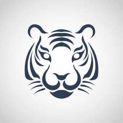 Poster tiger logo vector