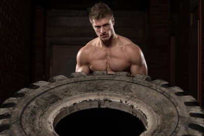 Poster Tire Workout Exercise