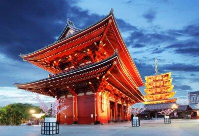 Poster Tokyo - Sensoji-ji, Temple in Asakusa, Japan